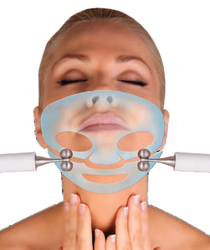 Lady having hydratone facial